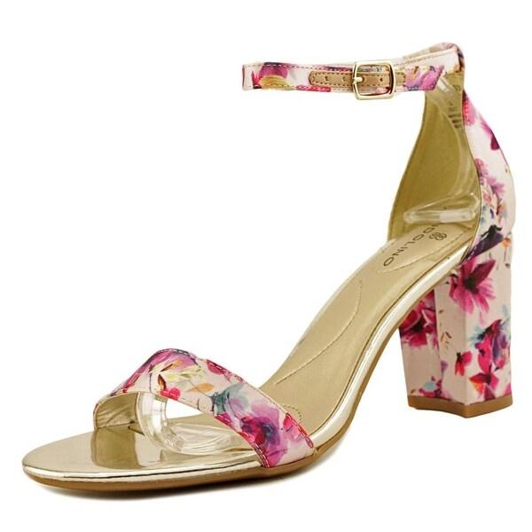 Bandolino Armory Women Open Toe Canvas Pink Sandals