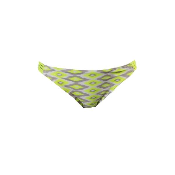 7c6707cbd0 Hula Honey Lemon Grey A Must Have Ikat-Print Strappy Bikini Bottom S
