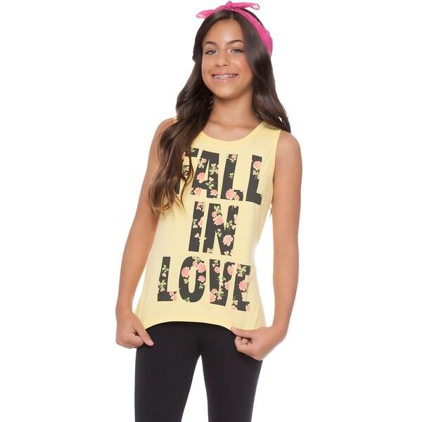 8e6bb1fe1 Shop Tween Girl Tank Top Graphic Tee Summer Clothes for Teens Pulla ...