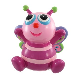 Large Pink And Purple Big-Eyed Butterfly Money Bank