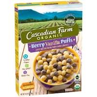 Cascadian Farm Cereal - Organic - Berry Vanilla Puff - 10.25 oz - case of 12