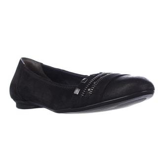 Paul Green Campbell Zip Studded Ballet Flats - Black