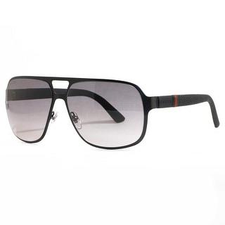 GUCCI Aviator GG 2253/S Men's 0M7A/EU Semi Matte Black Gray Sunglasses - 62mm-14mm-135mm