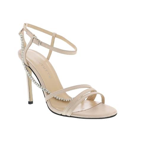 Ventutto Powder Pink Crystal Embellished Strappy High Heel Sandal-
