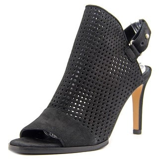 Vince Aden2 Women Open-Toe Leather Black Slingback Sandal