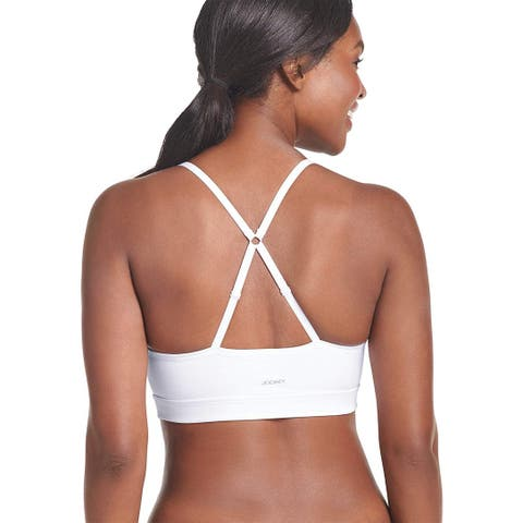 Jockey Women's Molded Cup Seamless Bra Bra, Clean, Clean White, Size Small