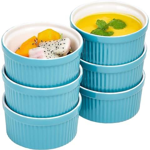 Bruntmor Ceramic Ramekins Souffle Dishes, Ramekins - 8 Ounce for Baking - 8 Ounce Ceramic Ramekins