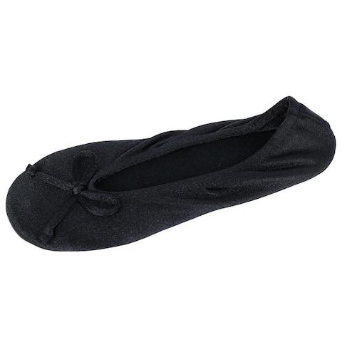 Isotoner Women's Satin Classic Ballerina Slippers