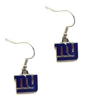 New York Giants Dangle Logo Earring Set Charm Gift NFL