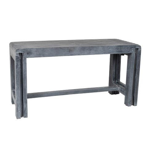 """East at Main Remi Extendable Bench - 35"""" x 13.75"""" x 18"""" /60"""" x 13.75"""" x 18"""""""