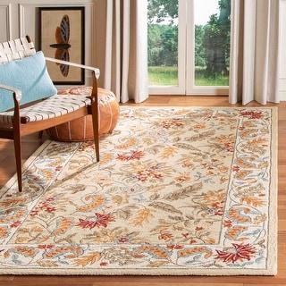 Link to Safavieh Hand-hooked Chelsea Ashlyn Country Oriental Wool Rug Similar Items in Rugs