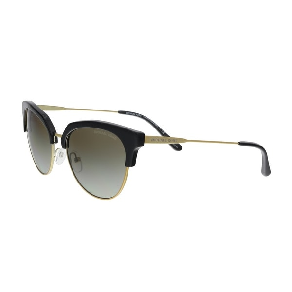 b7521b331af Shop Michael Kors MK1033 32698E Black  Pale Gold Cat eye Sunglasses ...