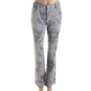 Catherine Malandrino Womens Twill Jacquard Casual Pants - 2