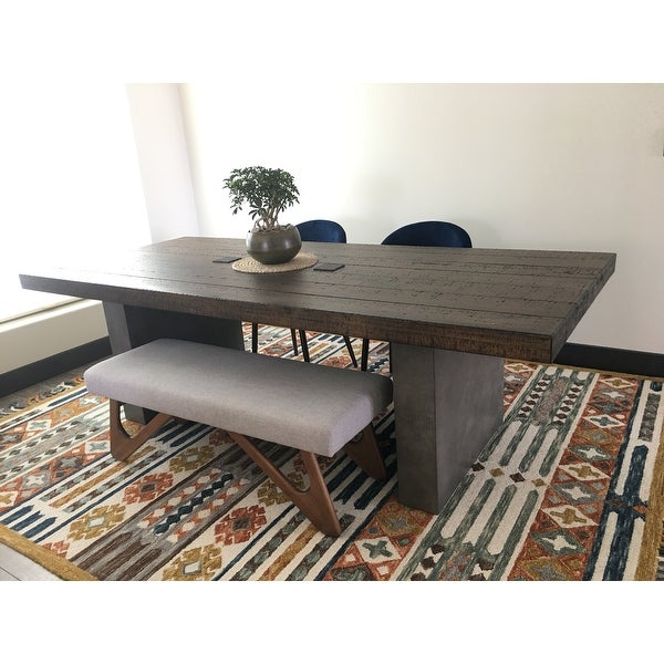 Top Product Reviews For Blake Reclaimed Wood And Concrete Dining Table By Inspire Q Artisan 22974143 Overstock