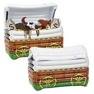 """Giant Inflatable Western Chuck Wagon Party Drink Cooler 17"""" x 24"""" - White"""