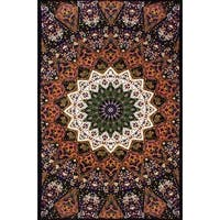 Handmade 100-percent Cotton Indian Star Mandala Tapestry Tablecloth in Twin 60x90 and Full 85x100 Purple Dorm Decor Beach Sheet