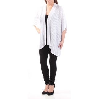 RALPH LAUREN Womens White Dolman Sleeve Open Top Size: 2XS