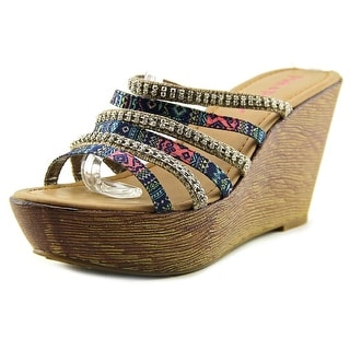 Pink & Pepper Viktory Women Open Toe Synthetic Wedge Sandal