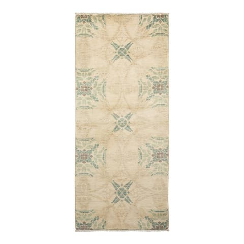 """Suzani, One-of-a-Kind Hand-Knotted Runner - Ivory, 2' 6"""" x 5' 10"""" - 2' 6"""" x 5' 10"""""""