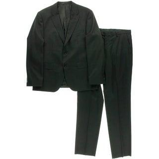 BOSS Hugo Boss Mens Johnston 1/Lenon Wool 2PC Two-Button Suit - 40S