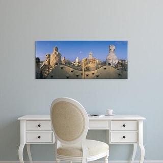Easy Art Prints Panoramic Images's 'Casa Mila Barcelona Spain' Premium Canvas Art