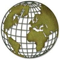 Globe - Sizzix Thinlits Die By Tim Holtz