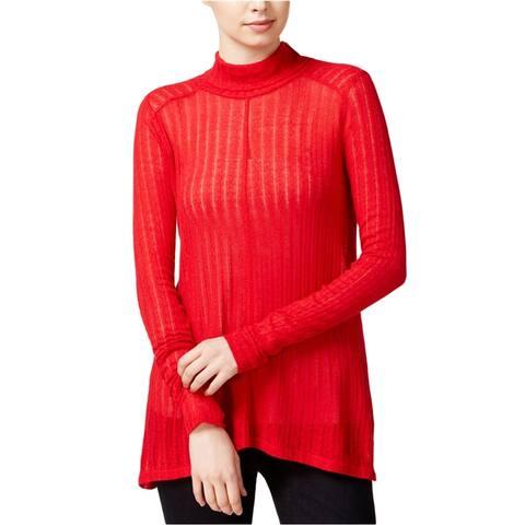 Lucky Brand Womens Hi-Lo Turtleneck Knit Sweater