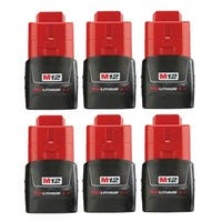 Replacement 3000mAh Battery for Milwaukee 2404-20 / 2446-20 / 2458-20 Power Tools (6 Pk)