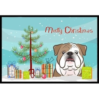Carolines Treasures BB1591JMAT Christmas Tree & English Bulldog Indoor or Outdoor Mat 24 x 36