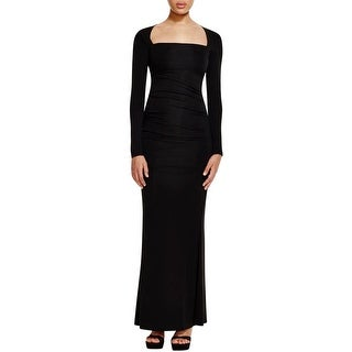 Nicole Miller Womens Formal Dress Ruched Square Neck - 4