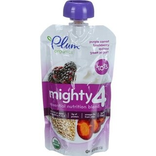 Plum Organics - Carrot, Blackberry & Quinoa Greek Yogurt ( 6 - 4 OZ)