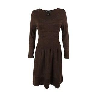 International Concepts Women's Striped Ottoman Sweater Dress