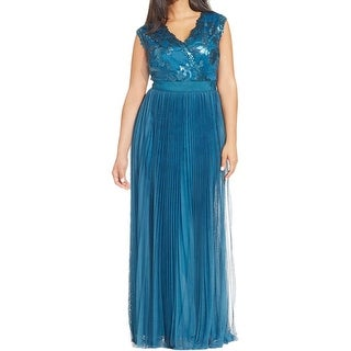 Adrianna Papell Womens Formal Dress Sequined Pleated - 14