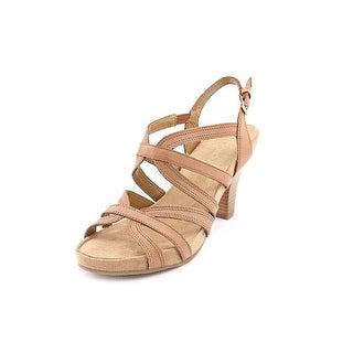 Aerosoles Headliner Women Open Toe Leather Tan Sandals