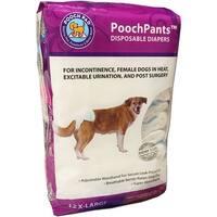 Poochpants Disposable Diaper-Medium 12/Pkg-