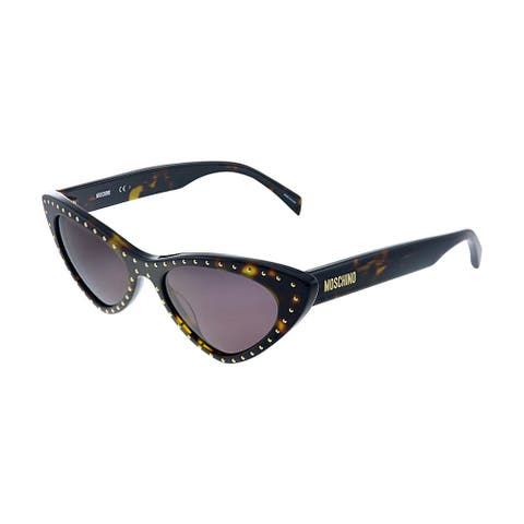 Moschino MOS 006S 086 K2 Womens Havana Frame Purple Lens Sunglasses