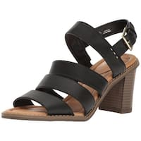 Dr Scholls Womens Parkway Open Toe Casual Strappy Sandals