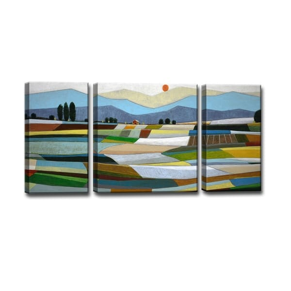 Fertile Acres 3 Piece Wrapped Canvas Wall Art Set By Norman Wyatt Jr On Sale Overstock 11764400