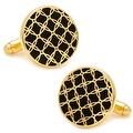 Gold and Black Filigree Cufflinks - Thumbnail 0