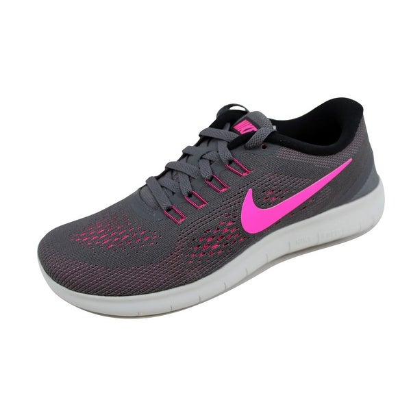 88484c9bb057 Shop Nike Women s Free RN Dark Grey Pink Blast-Black-Cool Grey ...