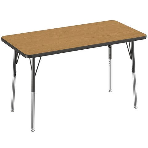 """24"""" x 48"""" Rectangle Activity Table with Adjustable Swivel Glide Legs"""