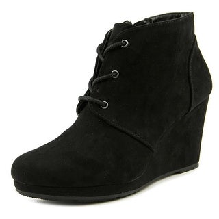 Style & Co Alaisi Women Open Toe Suede Black Wedge Heel