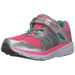 Saucony Kids' Zealot 2 a/C Running, Silver/Coral, Size 11.5 Medium US Little Kid - 11.5 medium us little kid