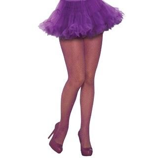 Forum Novelties Glitter Fishnet Stockings Purple