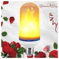 Kanstar LED Flame Effect Light Bulb, E26 LED Flickering Flame Light Bulbs, 105pcs 2835 LED Beads Simulated Decorative Light