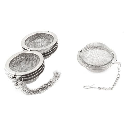 Stainless Steel Brewing Tea Leaves Mesh Locked Infuser Stainer Filter 5pcs