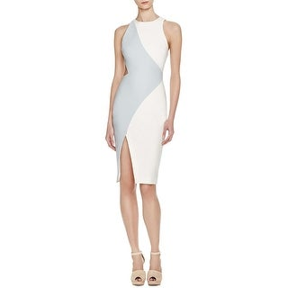 Elizabeth and James Womens Amina Cocktail Dress Colorblock Cut Out