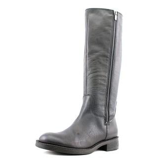 Enzo Angiolini Shobi Women Round Toe Leather Black Knee High Boot