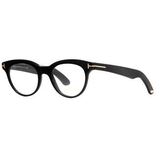TOM FORD Cat eye TF 5378 Women's 001 Black Clear Eyeglasses - 49mm-20mm-145mm