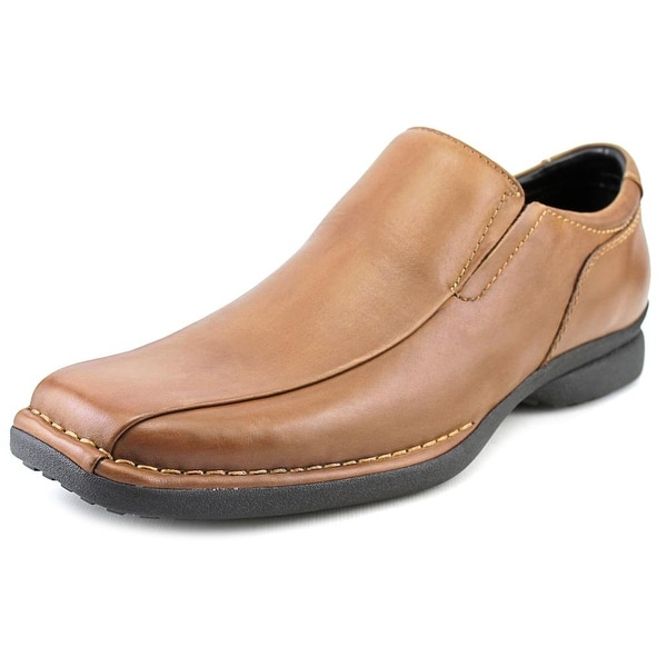 Kenneth Cole Reaction Punch it Men Square Toe Leather Brown Loafer